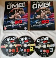 DVD BOX SET - WWE Wrestling OMG! The Top 50 Incidents In WWE History DVD PAL UK