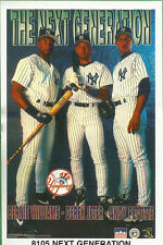 1997 NY Yankees Next Generation Jeter, Bernie, Pettitte Original Starline Poster