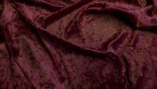 Burgundy red crushed velvet/velour fabric