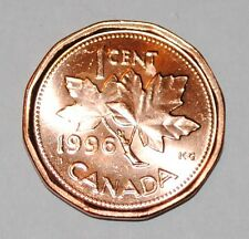 1996 1 Cent Canada Copper Nice Uncirculated Canadian Penny