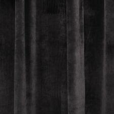 Pair Vintage Style Eyelet Velvet Curtains, 2x140cmx220cm Drop,Dark Brown Color.