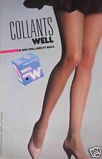 PUBLICITÉ 1983 COLLANT TRÈS FIN WELL BIEN ET BELLE