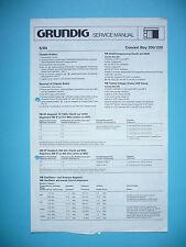 Service Manual Grundig Concert Boy 200/220 radio, Origin