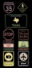 TEXAS ROAD SIGNS Scrapbook Stickers