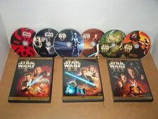 STAR WARS PREQUEL TRIOGY DVD WIDESCREEN 6 DISCS PHANTOM ATTACK REVENGE SITH