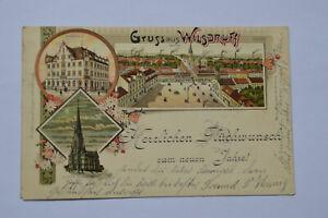 Ansichtskarte Wilsdruff Markt Kirche Stadthaus