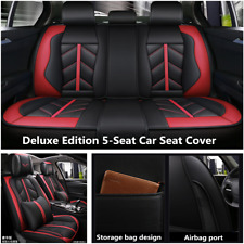 5D Deluxe Edition Leather 5-Seat Car Seat Cover Cushion For Interior Accessories