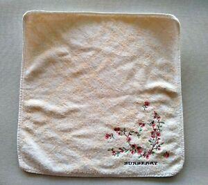 Burberry Small Face Towel Flannel Wash Cloth Designer Nova Check Florals Beige