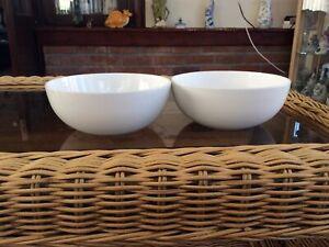 Denby White Dessert / Cereal Bowls (2)