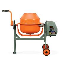 Concrete Mixer 1.6 Cu. Ft. Compact Portable Electric Rugged Low Profile Height