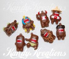 8 Domo Kun Charm beads Brown For kandi raver bracelets Rave necklaces toys Kids