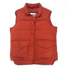 Vintage Woolrich Goose Down Puffer Vest Mens Medium Burnt Orange