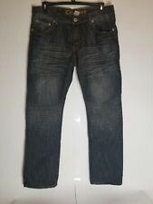 City Ink, Mens Blue Jeans, Pants Size 36X34, Distressed Pants, Comfort Fit Pants