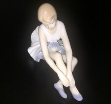 Duncan Royale Porcelain Sitting Ballerina, Pretty Vintage Dancer Figurine 5 X 7