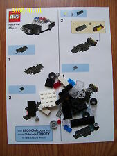 BRAND NEW TOYSRUS LEGO POLICE CAR COMPLETE WITH 35 PIECES AND INSTRUCTION SHEET