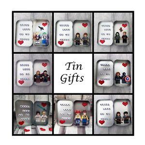 Tin Years Gift, Ten Year Anniversary, Minifigures, Wedding, Lego Compatible,