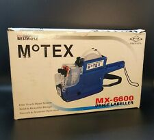 Motex Environmental Protection Mx-6600 10 digits 2 Lines price tag gun labeler