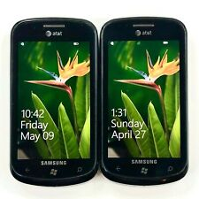 Lot of 2 - Samsung Focus - Black (AT&T) 3G GSM Windows Mobile Touch Smartphone