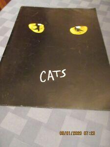 Cats Broadway play program 1981 original  cast pictures