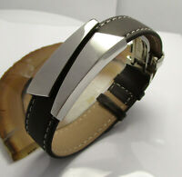 Lederarmband Herren Männer Edelstahl Armband Leder Braun verstellbar 18 - 23 cm
