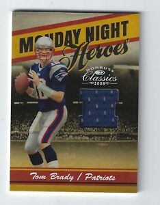 2008 Donruss Classics Monday Night Heroes Jerseys #6 Tom Brady