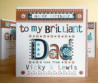 Dad birthday card personalised. Special Dad To my brilliant DAD birthday card