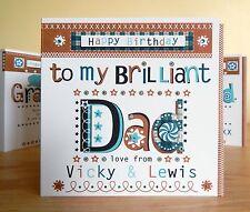 Papà Compleanno Biglietto Personalizzato. PAPA 'SPECIALE PER LA MIA BRILLANTE PAPA' cartolina di Compleanno