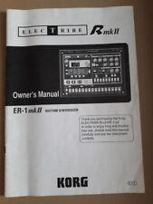 KORG Electribe ER-1 MK Manual Original MK2 II