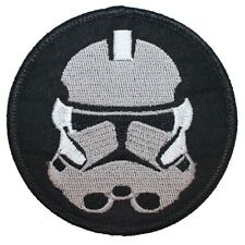 Clone Trooper Helmet Old Republic Stormtrooper Star Wars Iron On Applique Patch