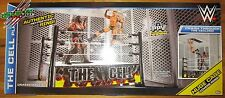 WWE THE CELL AUTHENTIC STEEL CAGE & RING PLAYSET EXCLUSIVE PPV AMBROSE ROLLINS