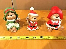 """HOMCO CHRISTMAS STYLE #5600 """"CLAUS FAMILY BEARS"""" 3 PIECES"""