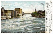 Watertown New York NY Postcard Black River Below the Falls Undivided Back 1905