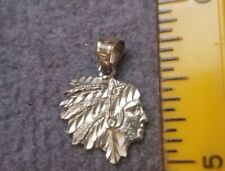 10k Yellow Gold Native American Indian Pendant