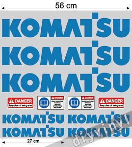 KOMATSU Stickers Decals Mini Digger Excavator machine pelle excavateur Bagger