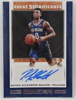 2019-20 NBA Hoops Great SIGnificance Nickeil Alexander-Walker RC Auto #GS-NAW