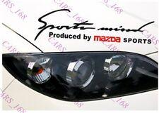 ☆ nuevo ☆ Faros De Cejas Automóvil Pegatinas Calcomanías de Vinilo de gráficos para Mazda (Negro)