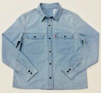 Levi's Women's Chambray Light Washed Western Shirt S/M/L