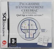 jeu PROGRAMME D'ENTRAINEMENT CEREBRAL nintendo DS francais game juego COMPLET