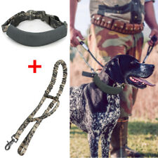 Adjustable SET of Tactical Dog COLLAR + LEASH Handle K9 Military Training Large