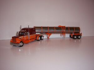 DCP FIRST GEAR 1/64 MAROON&ORANGE PETE 379 WITH 63'' SLEEPER AND BRENNER TANKER