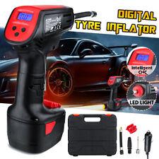 LCD LED 12V Air Compressor Hawk Auto Car Tyre Electric Pump Deflator Inflator