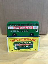 Vintage Lesney Matchbox Daimler Bus with E Type Box #74