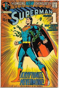 Superman #233  DC Comics 1971, Kryptonite Nevermore! Adams, Swan, Anderson VFNM
