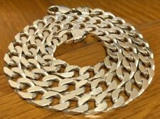 Men's or Lady's Solid Sterling Silver Curb Chain 925 Fully Hallmarked.
