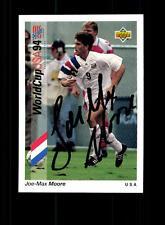 Joe Max Moore USA Upper Deck sammelcard WM 1994 ORIGINALE FIRMATO + a 157734