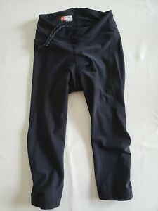 EUC Specialized Black Compression Cycling Padded Capri Shorts Pants Womens Small