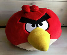 "A16 Angry Birds Big Red Bird Pillow Plush! Sounds 15"" Stuffed Toy Lovey"