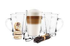 6 Latte Macchiato Gläser 300ml mit Henkel + 6 Löffel Kaffeegläser Teegläser