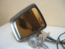 Vintage Cadillac Eldorado LH Remote Side Mirror With Thermometer