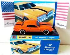 HOT WHEELS 1968 Ford MERCURY COUGAR Diecast Model Car in Custom Display & Box